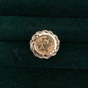 Gold Panda Coin Ring